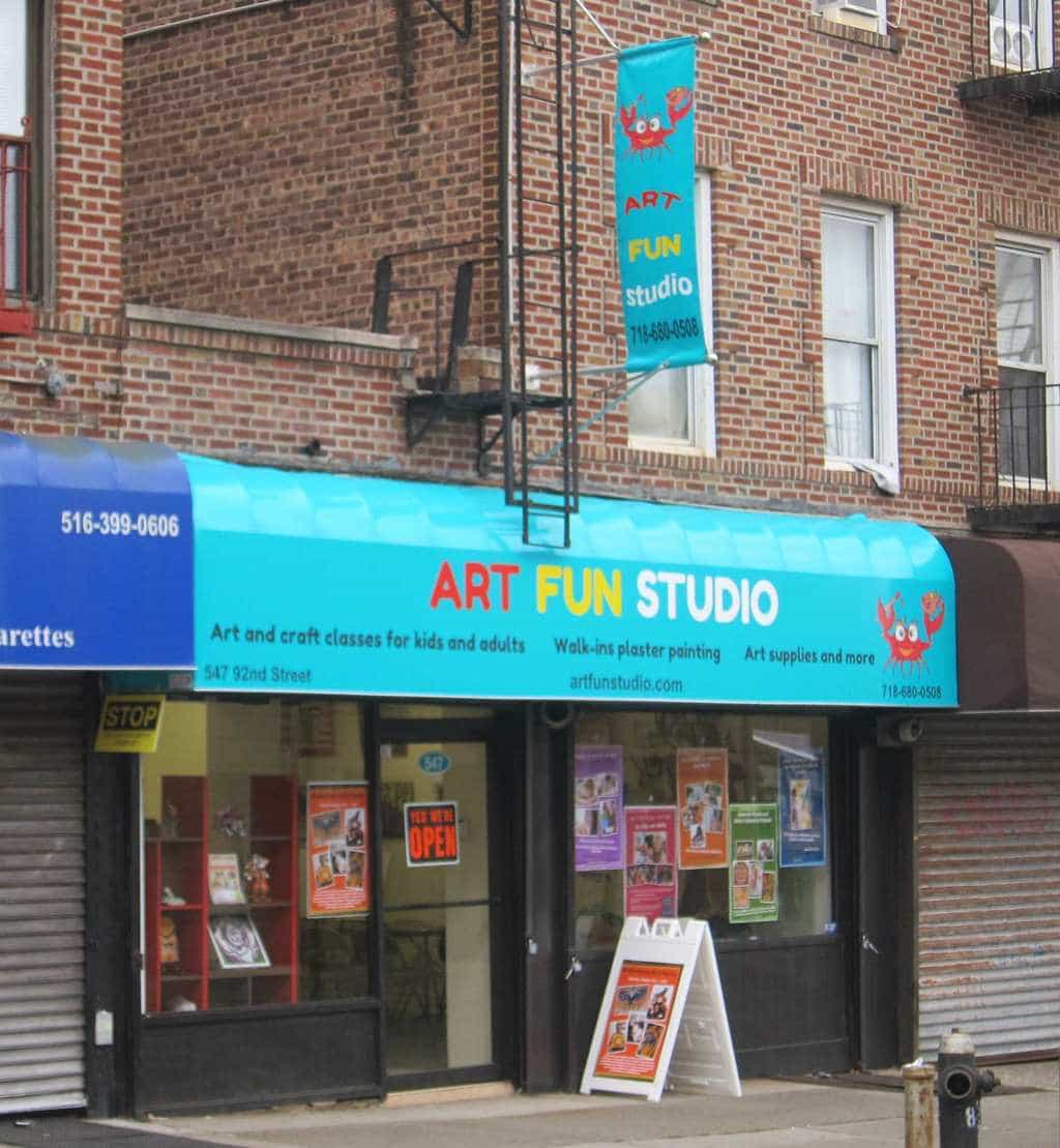 Art fun studio in bay ridge brooklyn opened for kids and for Art and craft store in brooklyn ny