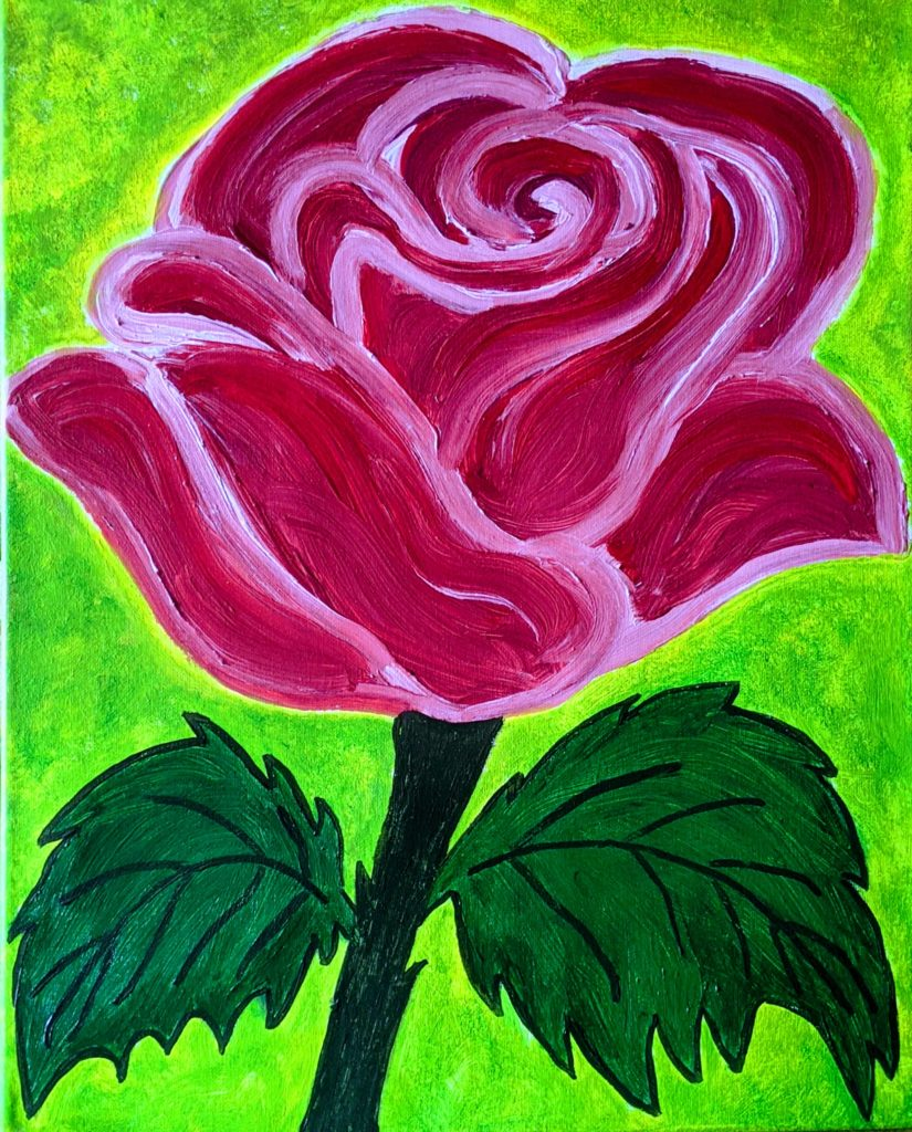 Rose to paint