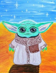 Baby Yoda painting event