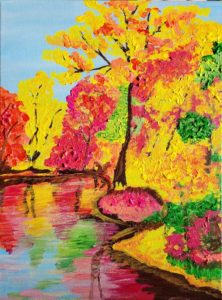 Fall in Reflection sip and Paint